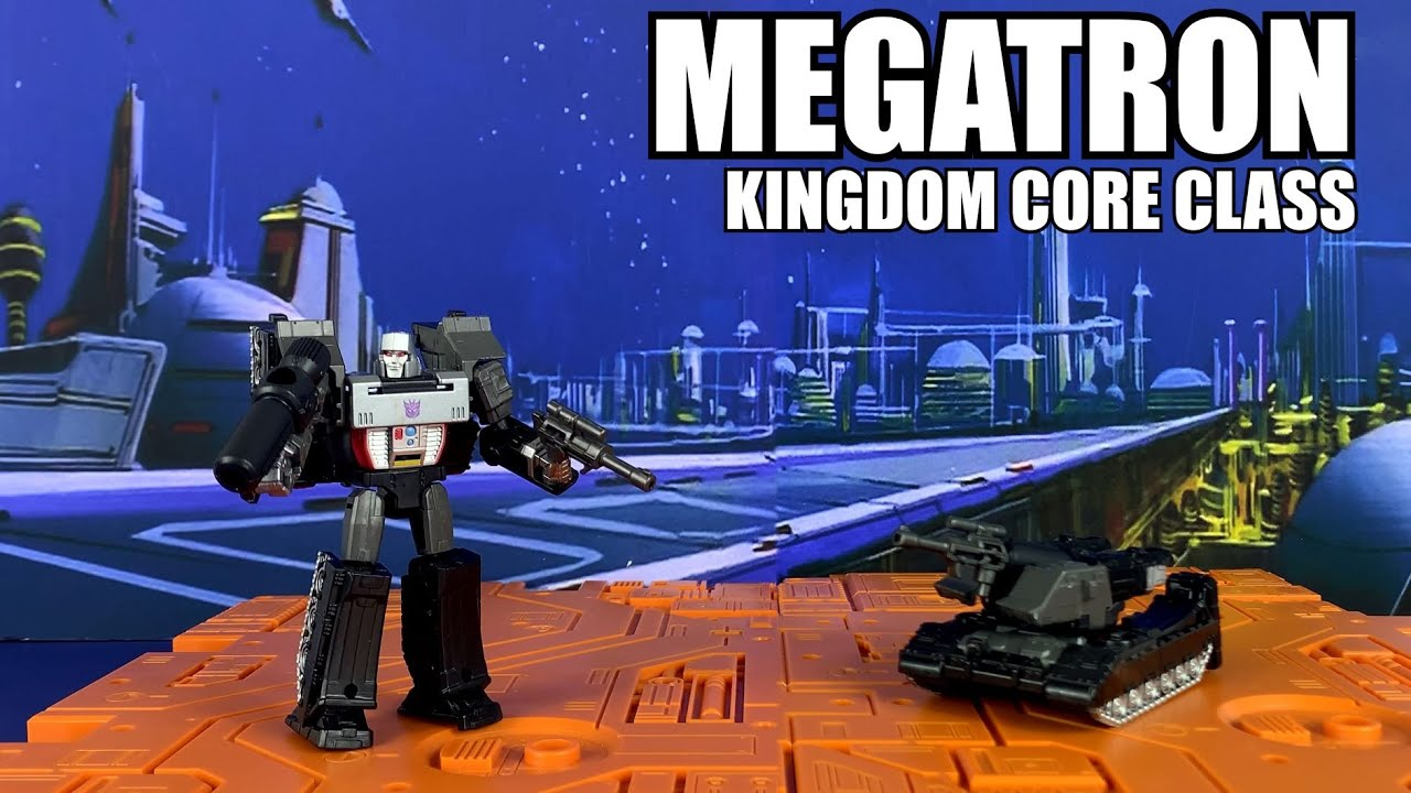 Transformers Kingdom Core Class MEGATRON Unboxing and Review by Enewtabie