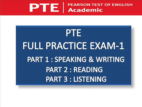 PTE FULL PRACTICE EXAM - WITH KEY