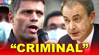 "Leopoldo López HUNDE a Zapatero: ""Criminal"""