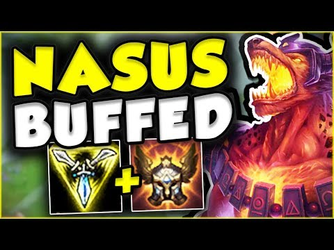 WTF RIOT?? NEW NASUS ONLY HAS 1 SEC CD ON Q? NASUS TOP GAMEP