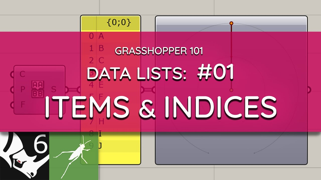Grasshopper 101: Data Lists   #01 Introduction, Items and Indices