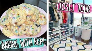 BAKING WITH REM + CLOSET TOUR!! Vlogmas Day 25