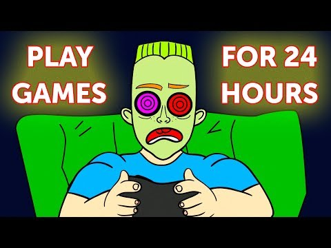 What If You Played Video Games For 1 Day Non-Stop