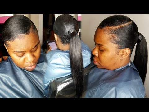 INVISIBLE PONYTAIL USING 10 INCH WEAVE
