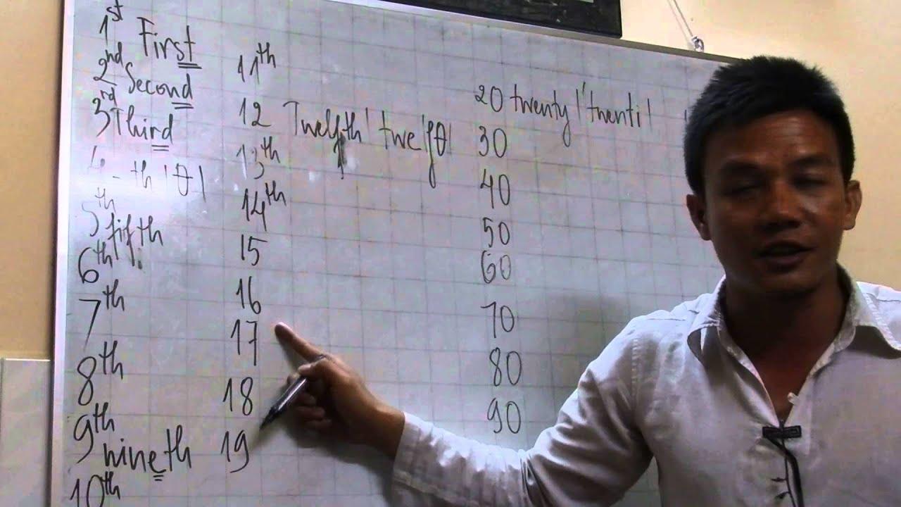 Cách đọc SỐ THỨ TỰ - ORDINAL NUMBERS (1ST, 2ND, 3RD, 4TH) - Thầy Trần  Phương Đông