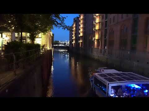 One Night in Hamburg -Speicherstadt 4K August 2018 SONY a7 iii