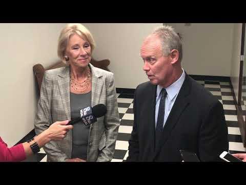 Secretary of Education Betsy DeVos visits Harrisburg Catholic Elementary School