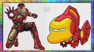 Superheros As Fish | Marvel & DC Comic Characters As Fish
