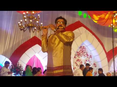 Gali mein aaj chand nikla on flute in weddding event live by sunil sharma indore +919827069747