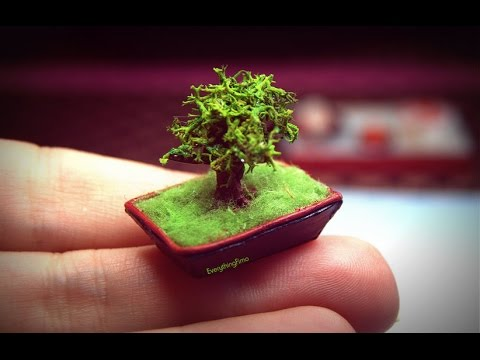 miniature bonsai tutorial polymer clay youtube. Black Bedroom Furniture Sets. Home Design Ideas
