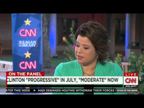 CNN laughs at Hillary Clinton after clips where she claims to be progressive AND moderate