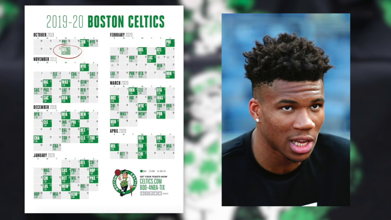 Nba Calendrier 2020.Celtics 2019 2020 Schedule Is Out