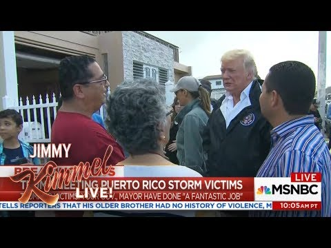 Donald Trump Throws Paper Towels in Puerto Rico