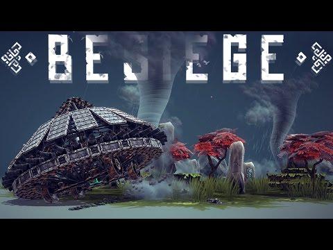 Besiege Alpha Gameplay - Tornados Everywhere! -  Tolbrynd COMPLETE! - Besiege Update 0.10