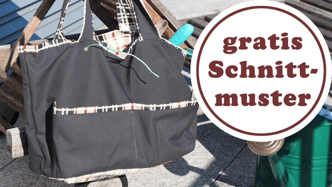 Tasche für den Garten nähen | mit Wachstuch | ausführliche Erklärung ...