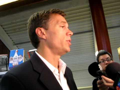Duff Conacher, national co-ordinator of Democracy Watch faces media