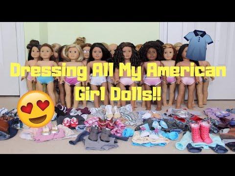 Dressing All My Dolls!