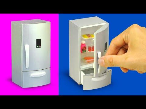 DIY mini fridge for a dollhouse (with measurements)