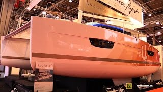 2016 Fountaine Pajot Lucia 40 Catamaran - Deck Interior Walkaround - 2015 Salon Nautique de Paris