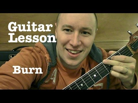 Burn- Guitar Lesson- Ellie Goulding (Todd Downing)