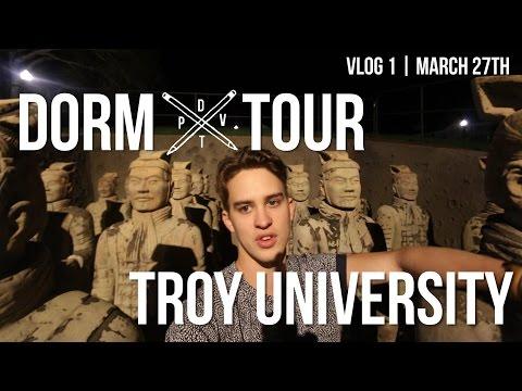 DORM TOUR VLOG   Troy University