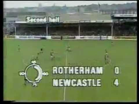 Rotherham United 1-5 Newcastle United 2nd October 1982