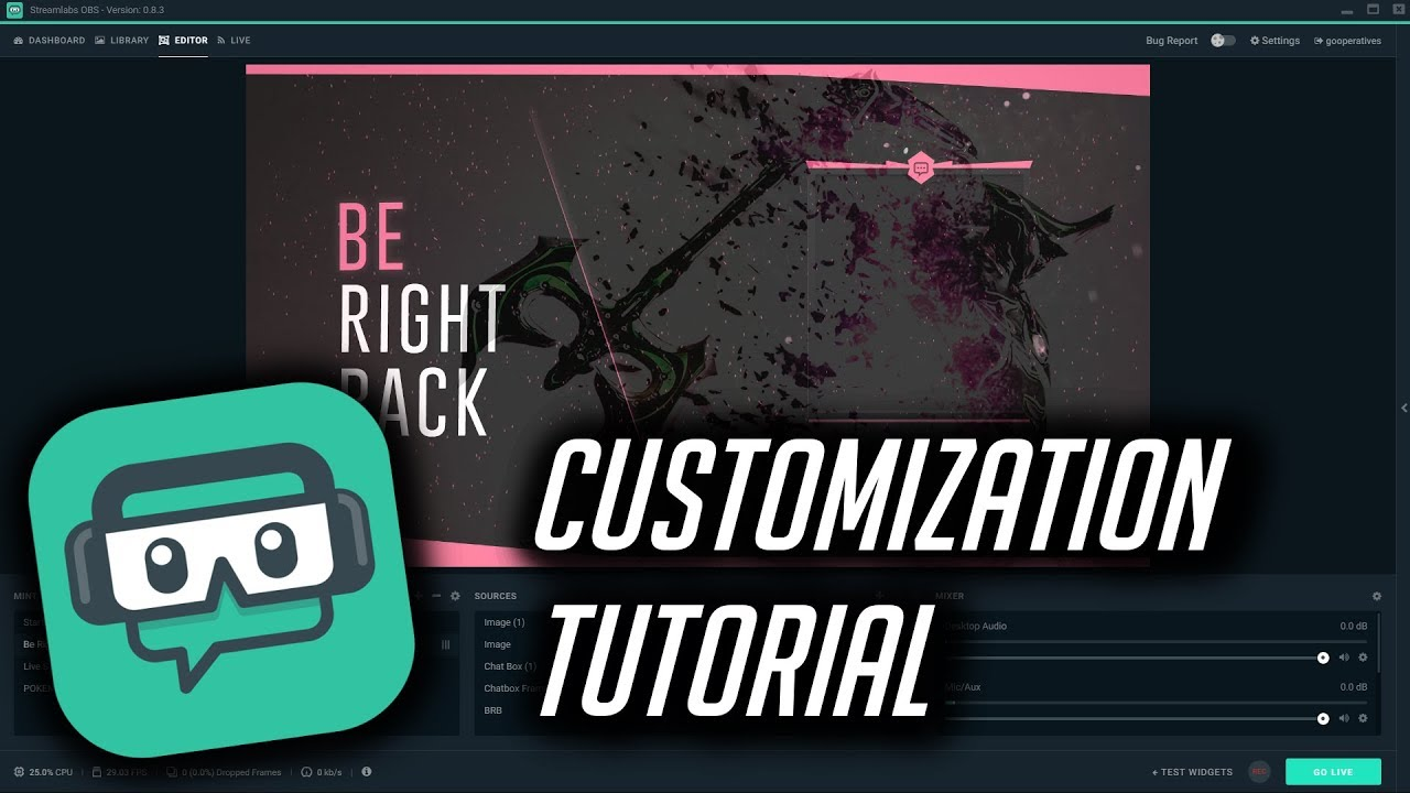 Streamlabs OBS Overlay Customization Tutorial!