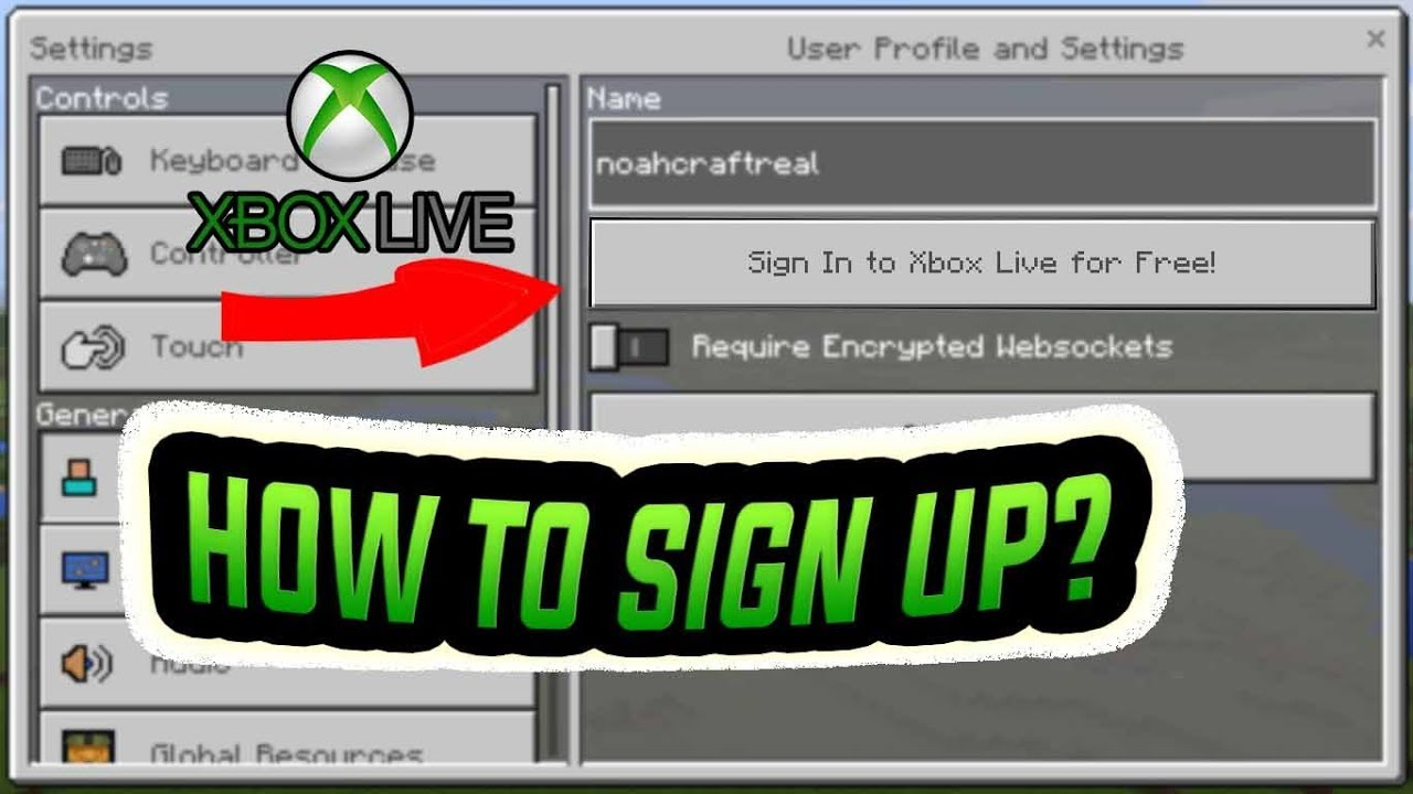Minecraft PE 1 2 | HOW TO LOGIN IN/SIGN UP TO AN XBOX LIVE ACCOUNT!!