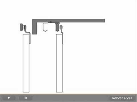 Sistema Corredizo Colgante Ducloset Simple Y Doble Ducasse