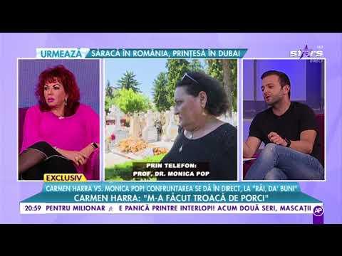Carmen Harra vs. Monica Pop, pentru prima dată față în față după ce a explodat scandalul
