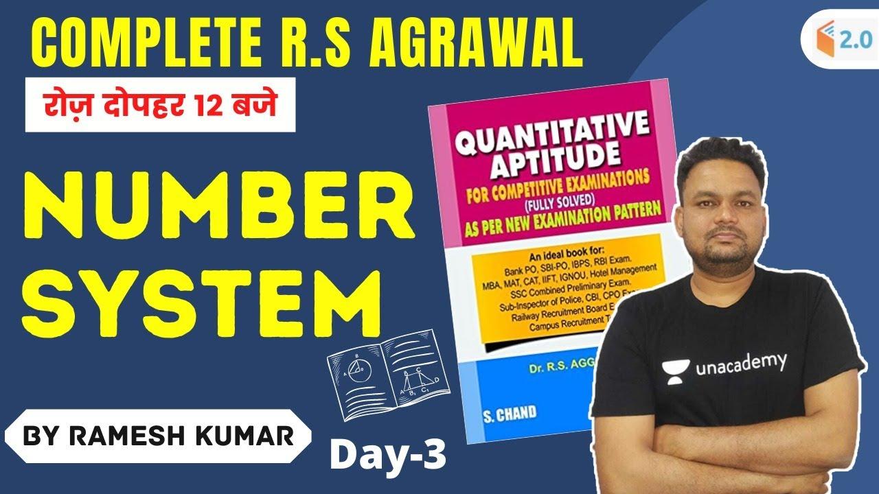 Number System | Complete R.S Agarwal | Day 3 | Maths | CHSL/CGL/CPO | Ramesh Kumar
