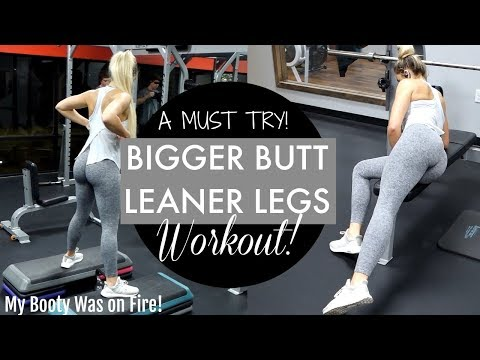 BOOTY ON FIRE! | BIGGER BUTT & LEANER LEGS WORKOUT