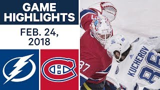 NHL Game Highlights | Lightning vs. Canadiens - Feb. 24, 2018