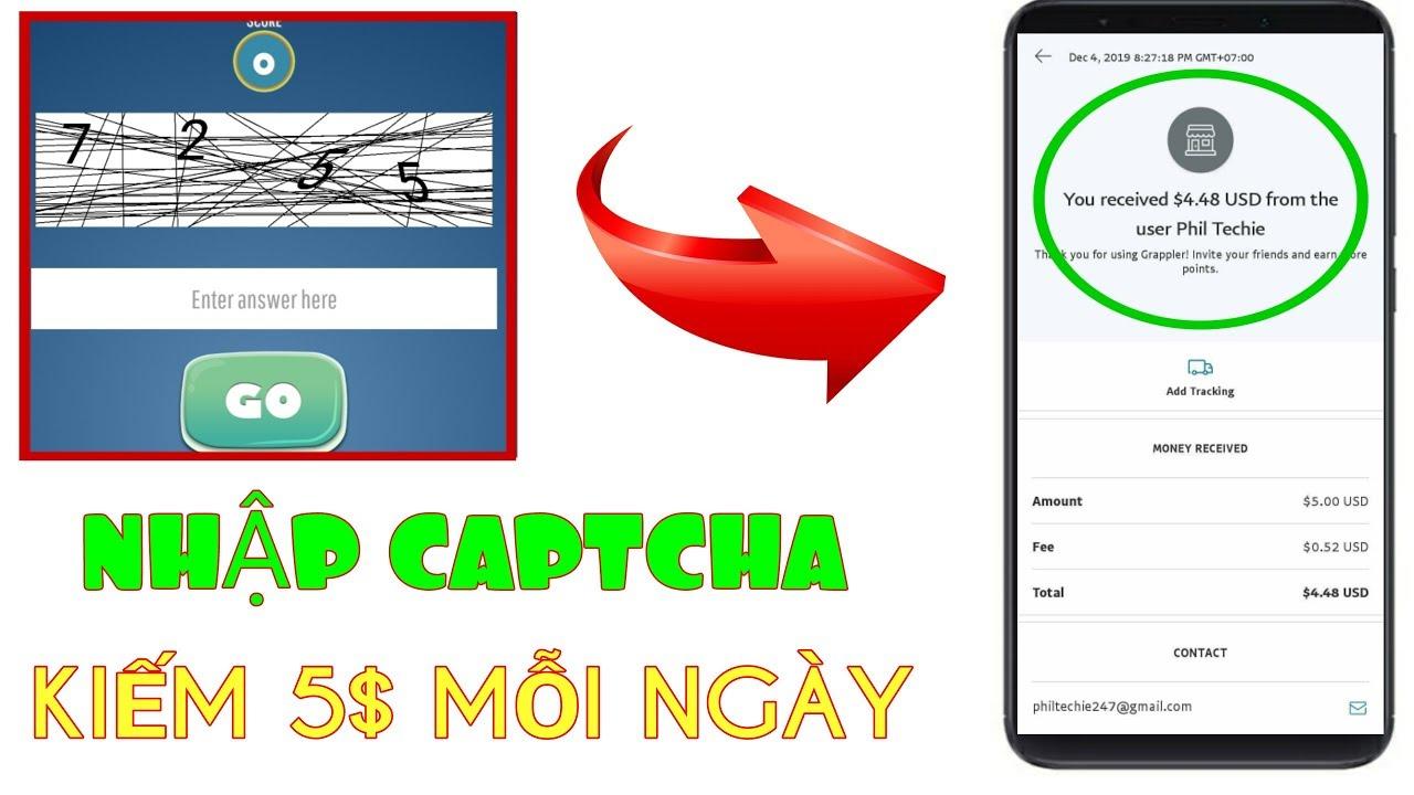 [Mới] App Mỹ nhập Captcha kiếm tiền, uy tín