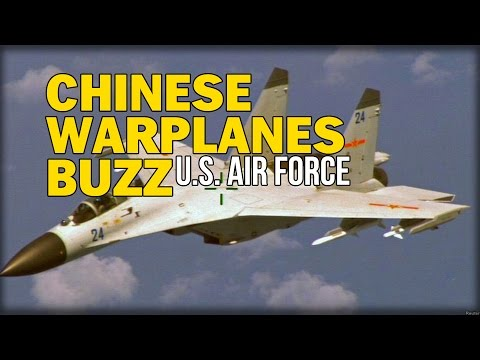 PROVOCATION! CHINESE WARPLANES BUZZ U.S. AIR FORCE OVER EAST CHINA SEA