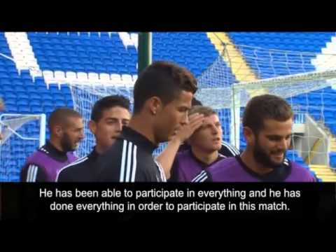 Real Madrid preparing the UEFA Super Cup 2014 game against Sevilla HD YouTube