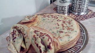 Сырные блины с зеленью, Cheese pancakes with fresh herbs