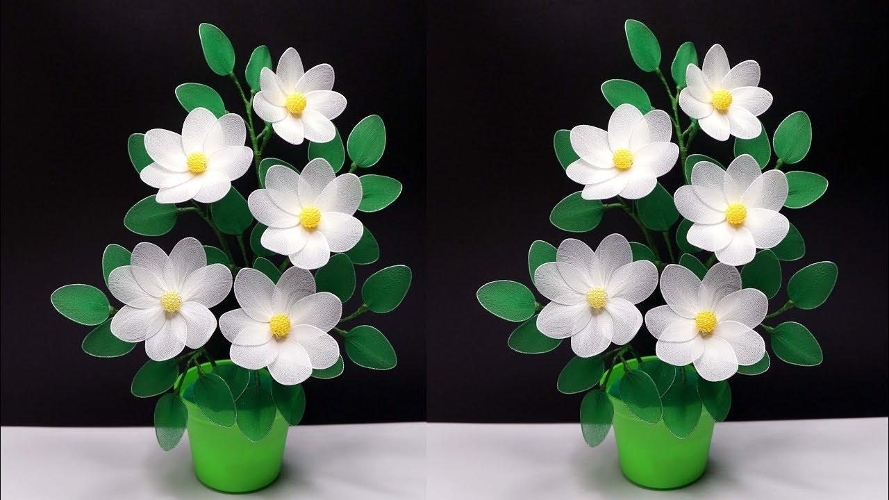 Cara Membuat Bunga Stoking Cantik Yang Sangat Mudah How To Make Nylon Stocking Flowers Youtube