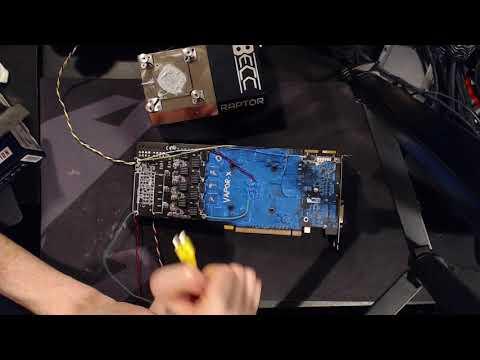 The Sapphire HD 7970 6GB Vapor-X's 1st LN2 session. (1569MHz core)
