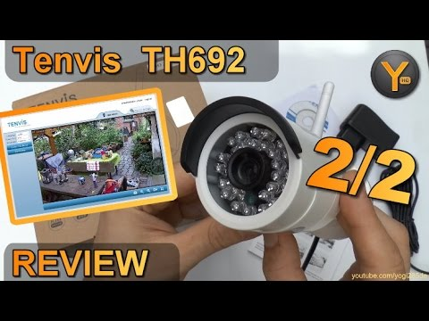 Installation & Funktionen: Tenvis TH692 / HD Wireless Outdoor IP Kamera mit Nachtsicht LED