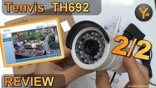 Installation & Funktionen: Tenvis TH692 / HD Wireless Outdoor IP Kamera mit Nachtsicht LED