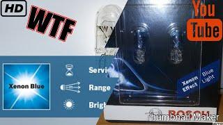 Не покупайте такие лампочки если хотите Ксенон BOSH Xenon Blue fake