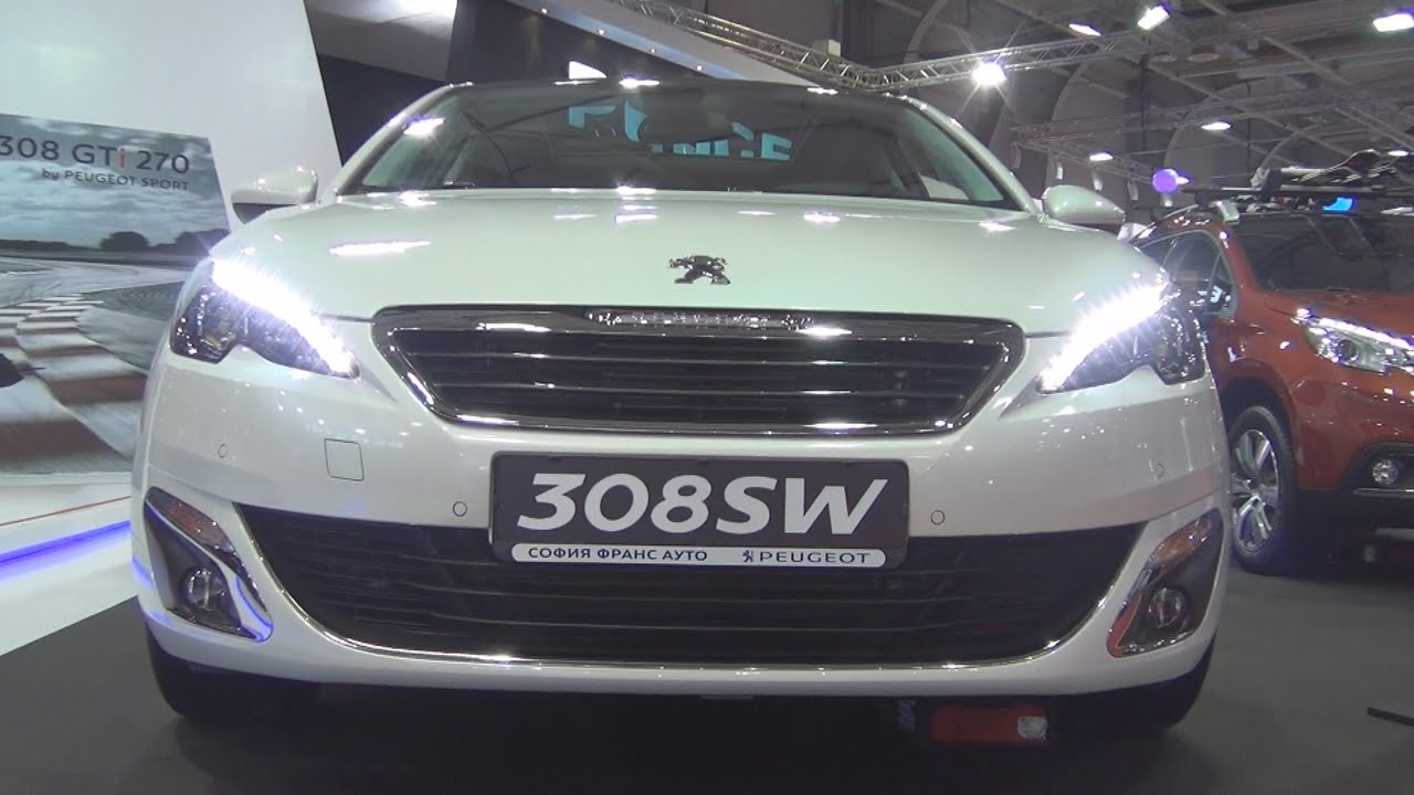 peugeot 308 sw allure 1 6 e hdi 120 eat6 euro6 2016 exterior and interior in 3d youtube. Black Bedroom Furniture Sets. Home Design Ideas