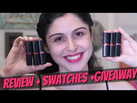giveaway||-maybelline-color-show-creamy-matte-lipcolor-||-review-+-swatches