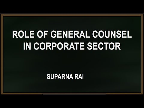 Role of General Counsel in Corporate Sector