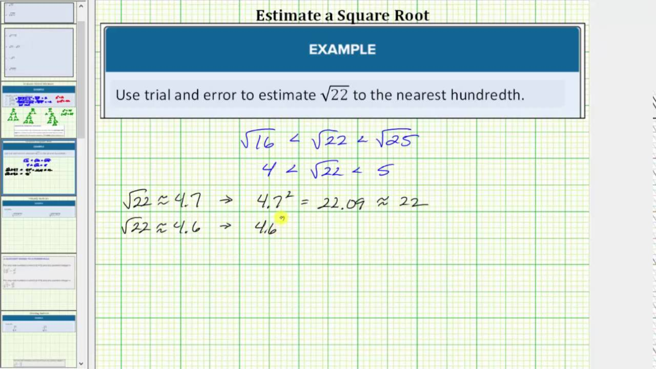Define and Evaluate Roots | Intermediate Algebra