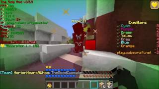 #203 Cubecraft Hacker Eggwars Adzer21 [fast build, Anti-KB, killaura] [BANNED]
