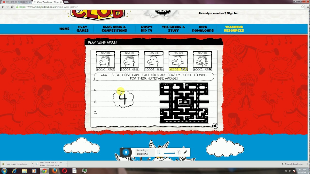 Game play of wimp wars game on wimpy kid club youtube game play of wimp wars game on wimpy kid club solutioingenieria