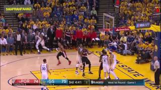 Golden State Warriors vs Portland Trail Blazers | Game 1 - 2017 NBA Playoffs | Full Highlights HD