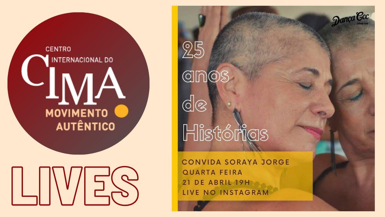 """Soraya Jorge na live da série """"25 Anos de histórias""""!, do Dança CCC"""